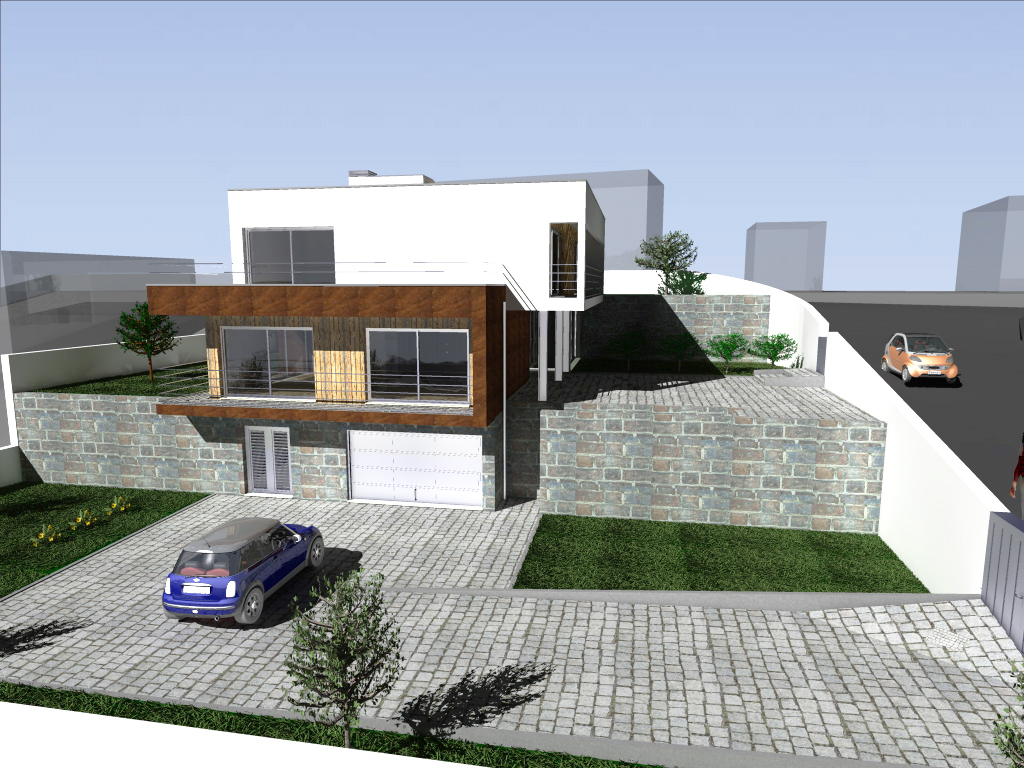 Single Family House in a slope, Lousada, Portugal: the project adapts ...