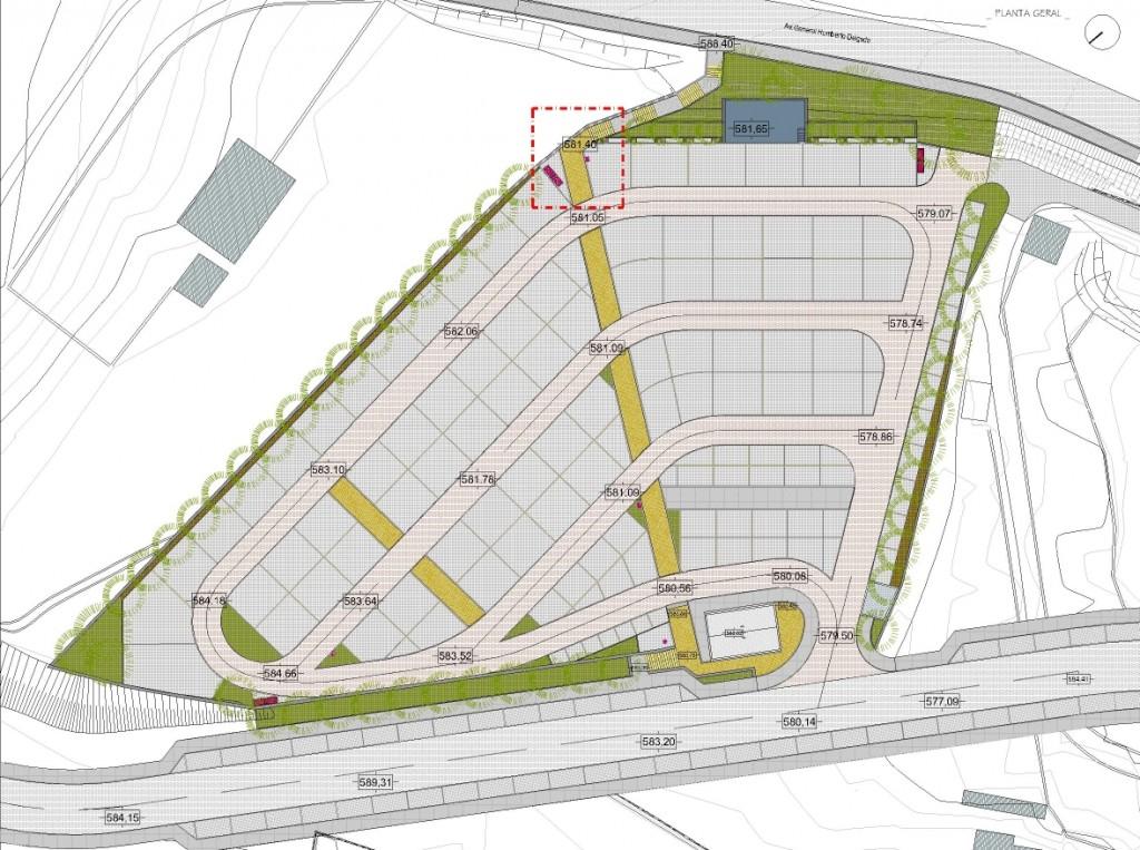Projecto de Parque da Cidade de Castro Daire: Planta geral