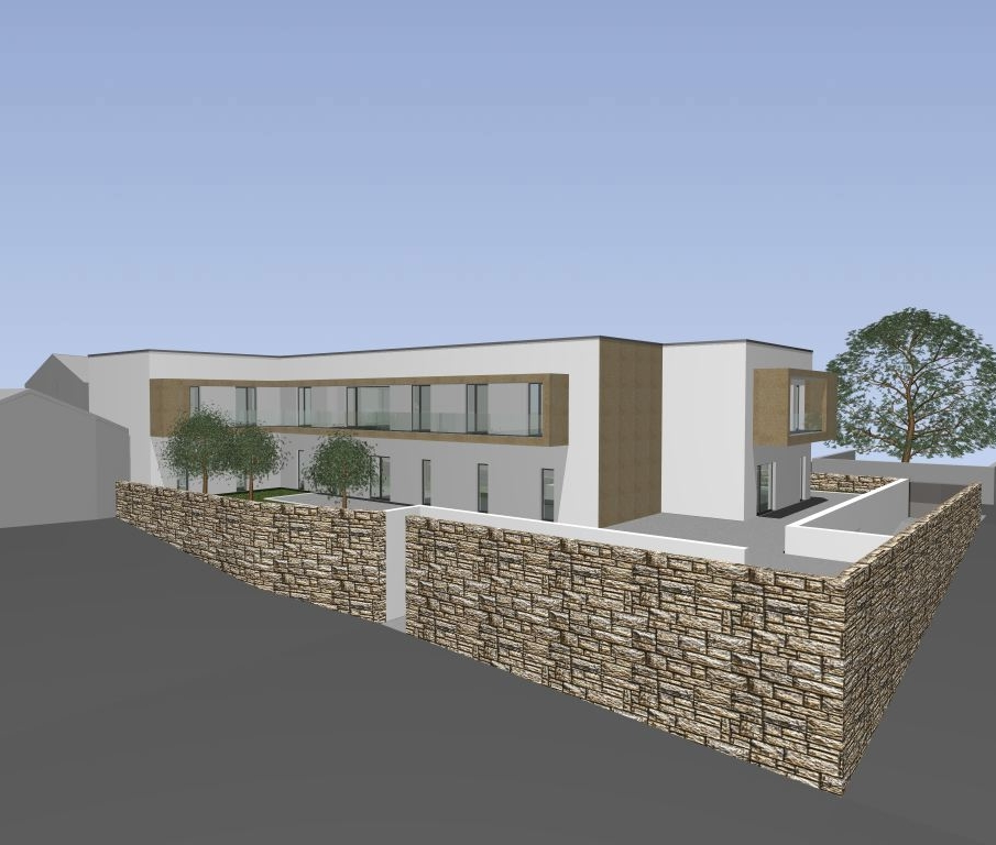 Projecto de Lar de Idosos de Touro, Vila Nova de Paiva: vista da zona dos quartos