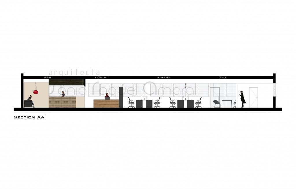 Remodelação de Escritórios, Norristown, Philadelphia, EUA: Corte do Piso 0