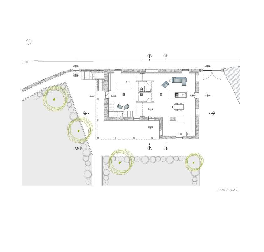 Projecto de Remodelação de Habitação Unifamiliar em Viseu: planta da proposta